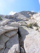 Rock Climbing Photo: Base of P1, Sahara Terror