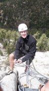 Rock Climbing Photo: Eric at belay station 2, start of P3