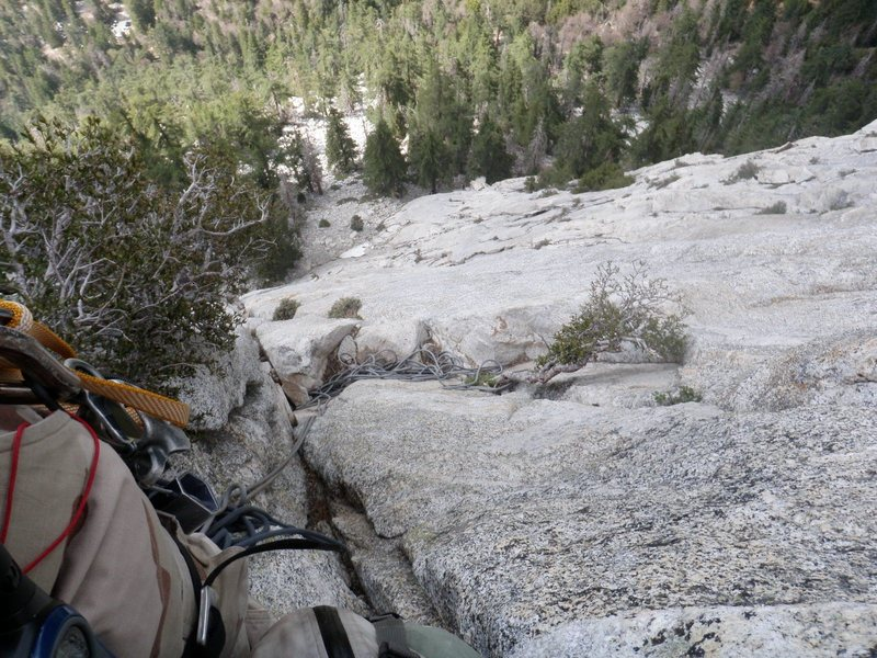 Rock Climbing Photo: belay station 3 best to set up lower where rope is...