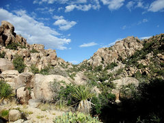 Rock Climbing Photo: Heading back over the saddle after leaving Walt's ...