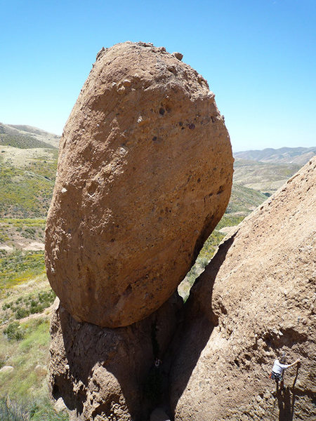 Rock Climbing Photo: THE EGG. The route Exhilaration goes right up the ...