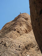Rock Climbing Photo: Spider on Tethys at the last bolt before belay at ...