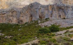 Rock Climbing Photo: The right side of Odyssey as seen from the dirt ro...