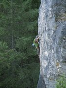 Rock Climbing Photo: Derek Foote on Royal with Cheese, 12a.