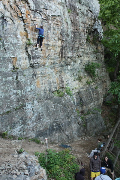 Rock Climbing Photo: This is a 10b at the lower wall