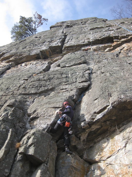 Rock Climbing Photo: A picture of the trad wall