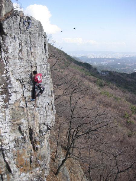 Rock Climbing Photo: 11d at far wall