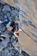 Rock Climbing Photo: Entering the interesting arete climbing of High Ro...