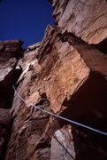Rock Climbing Photo: Pitch 4: Why settle for the fun 5.7 face to the ri...