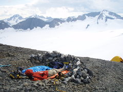 Rock Climbing Photo: camp on the Lyell Icefield