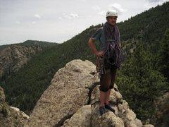 Rock Climbing Photo: Atop Cob Rock