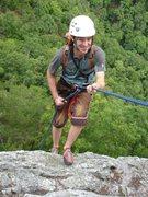 Rock Climbing Photo: Rapping after a long day of climbing at Seneca Roc...