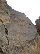 Rock Climbing Photo: Dan leading Sunset Slab