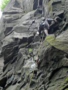 Rock Climbing Photo: Numb Nuts 5.8 sport lead