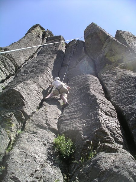 Rock Climbing Photo: Top roping Double Trouble