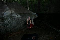 Rock Climbing Photo: Tim pulling around the horn.