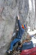 Rock Climbing Photo: Mr. Armstrong crushin'.