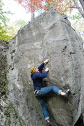 Rock Climbing Photo: Another of the tall unknown boulder problem. Any i...