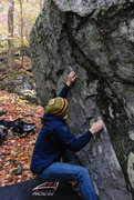 Rock Climbing Photo: Another look at the first move.