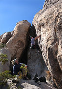 """Rock Climbing Photo: Will following on the FA of """"Knights of the I..."""