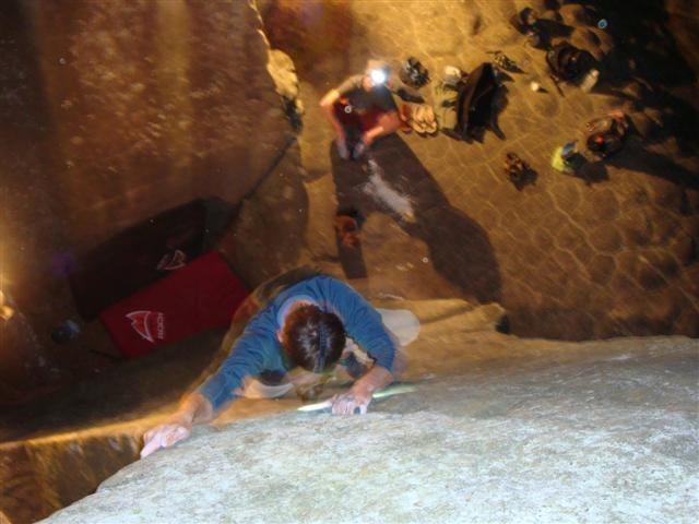 Rock Climbing Photo: Night climbing Merlin.