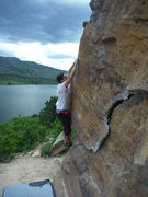 Rock Climbing Photo: Pete bouldering at the Ship's Prow area.