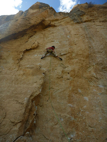 just before the crux