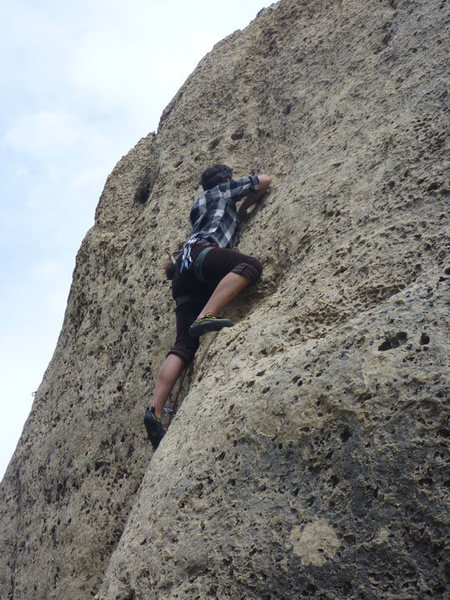 Rock Climbing Photo: heading up the dihedral.