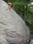Rock Climbing Photo: Vinny high up.