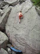 Rock Climbing Photo: Nearing the finish.