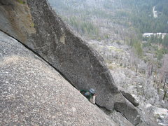 Rock Climbing Photo: Katherine gets her lieback/smear/jam on during the...