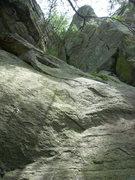 "Rock Climbing Photo: ""Left"" route."