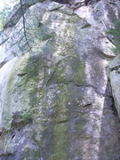 "Rock Climbing Photo: ""Middle"" route."