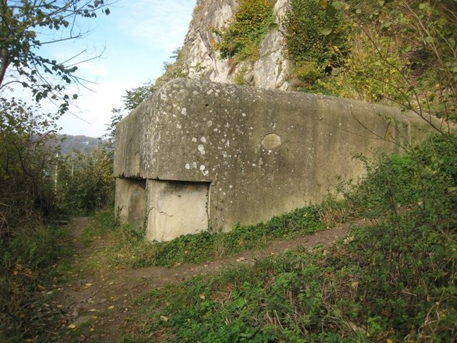 The pillbox at Dave between the secteurs Les Autrichiens and Central/Cosmos.