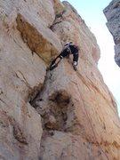 Rock Climbing Photo: The Crux, think lay back