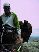Rock Climbing Photo: at the top of pitch 1