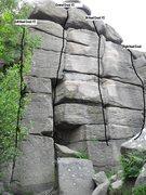 Rock Climbing Photo: Beta shot, Cracked Buttress @ Brimham Rocks - Nort...