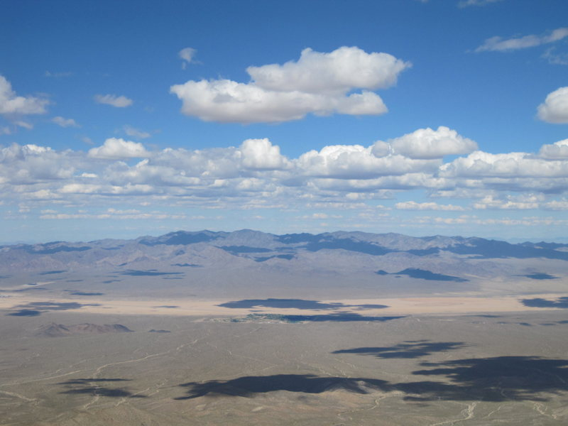View of the Mojave Desert from the third tier at Clark Mountain
