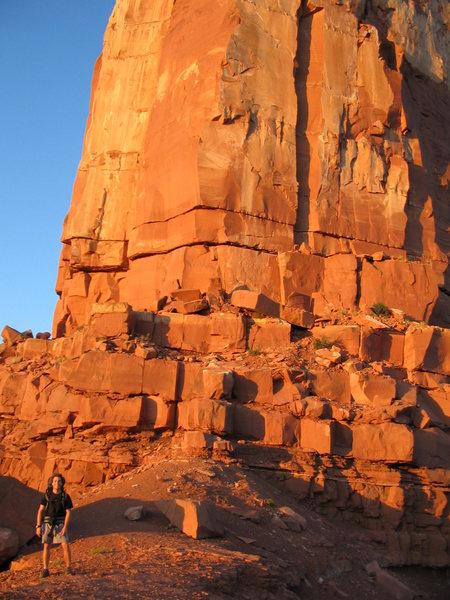 Rock Climbing Photo: Base of Castleton.