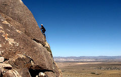 "Rock Climbing Photo: Todd Gordon on the FA of ""The Knights of the ..."