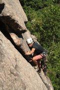 Rock Climbing Photo: Hale leading turners flake...