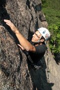 Rock Climbing Photo: hale reaching for the finish and pumping out fast!...