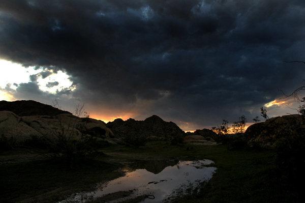Rock Climbing Photo: A puddle at sunset. Photo by Blitzo.