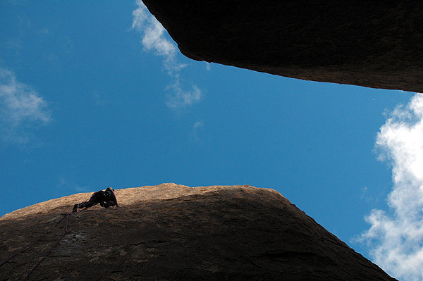 """Rock Climbing Photo: FA of """"Wet Behind, Dry Wallet"""". Photo by..."""