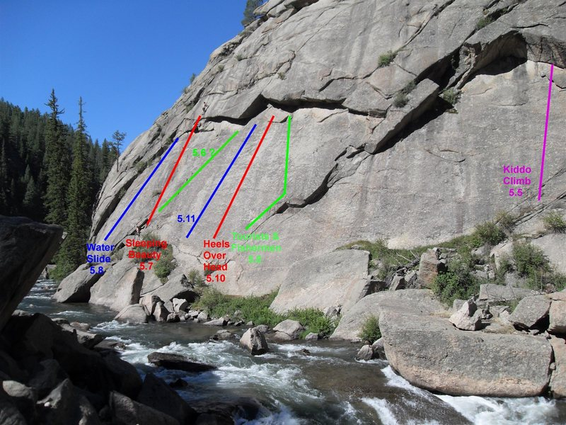 Rock Climbing Photo: Knome Dome Sport Routes (Based on what I climbed i...