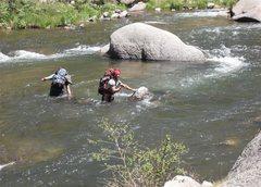 Rock Climbing Photo: Matt Bruton and the alternate summertime approach ...