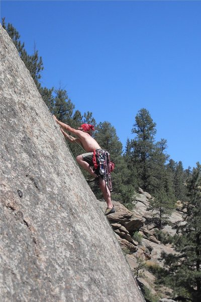 More thin technical climbing by Matt Bruton.