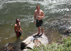 Rock Climbing Photo: Cool down.