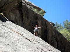 Rock Climbing Photo: Brenda at the anchors for Kiddo Climb.