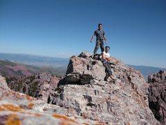Rock Climbing Photo: me and my bro Nico on the summit